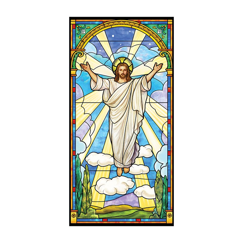 Stained Glass Series Banner - Risen Christ