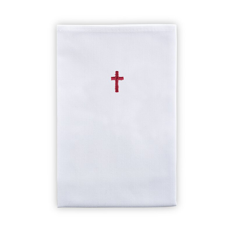 100% Linen Lavabo Towel with Red Cross - 12/pk
