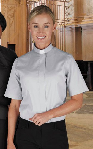 Women's Classic Tab Collar Short Sleeve Clergy Shirt