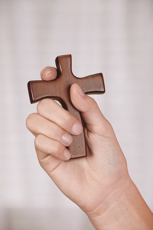 Hold Firmly to Faith Cross and Prayer Card