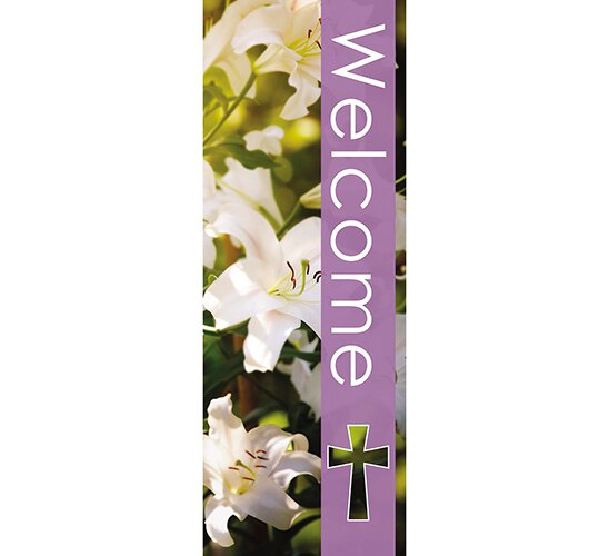 Seasons Welcome Series X-Stand Banner - Spring