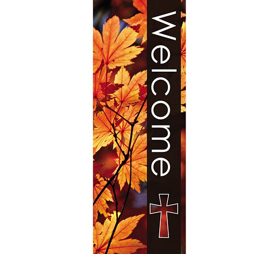 seasons welcome series x stand banner fall