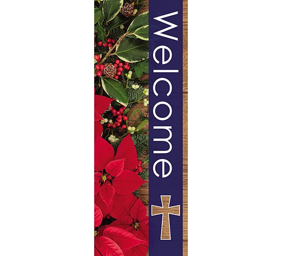 Seasons Welcome Series X-Stand Banner - Winter