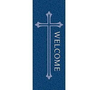 Welcome Series X-Stand Banner - Blue