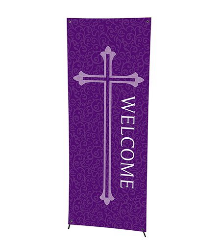 Welcome Series X-Stand Banner - Purple