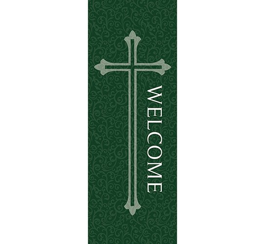 Welcome Series X-Stand Banner - Green