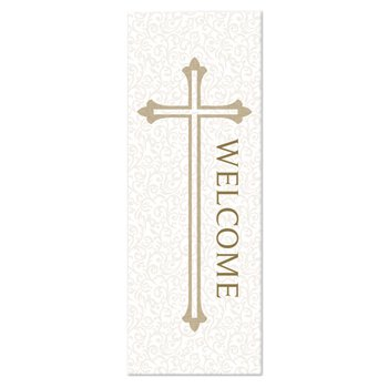 Welcome Series X-Stand Banner - White