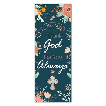 I Thank God for You Always Lapel Pin with Bookmark - 12/pk