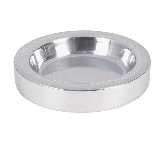 Polished Aluminum Communion Tray Center Bread Plate - Silver Tone