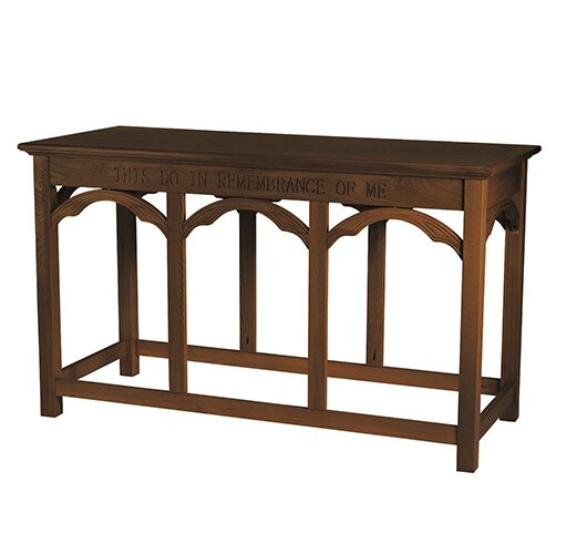 Gothic Collection Communion Table - Walnut Stain