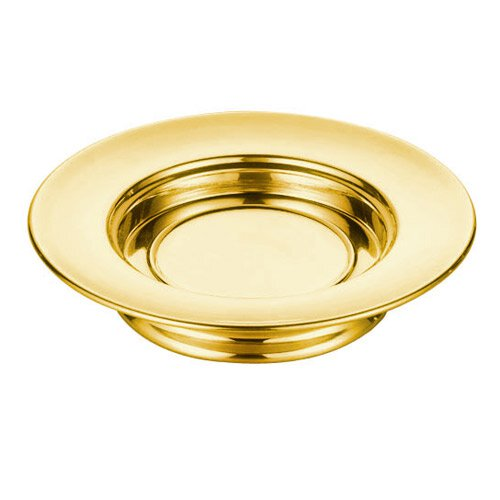 Polished Steel Stacking Bread Plate - Brass Tone