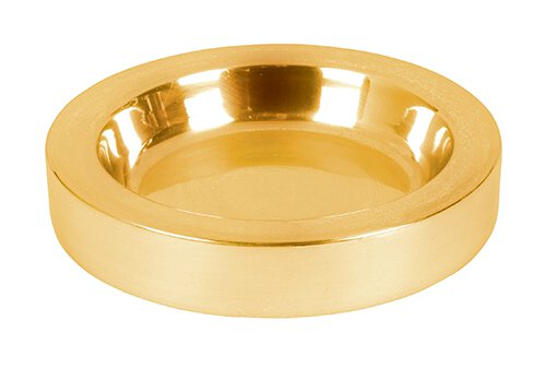 Polished Steel Communion Tray Center Bread Plate - Brass Tone
