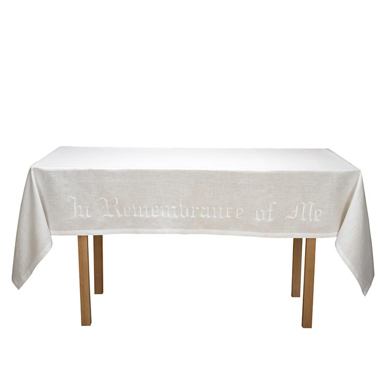 Poly/Cotton Blend In Remembrance of Me Altar Frontal