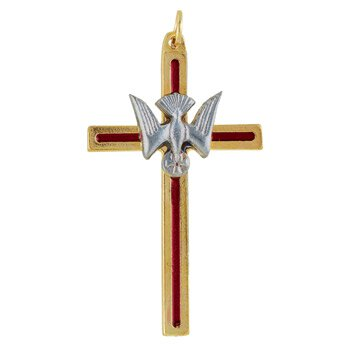 Confirmation Cross with Dove Pendant - 12/pk