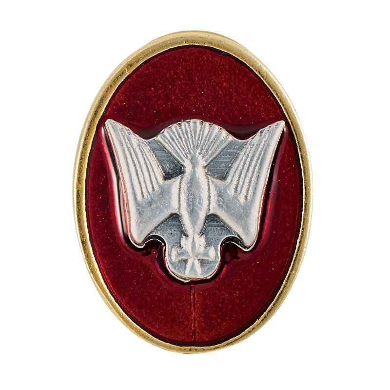 Oval Confirmation Dove Lapel Pin - 12/pk