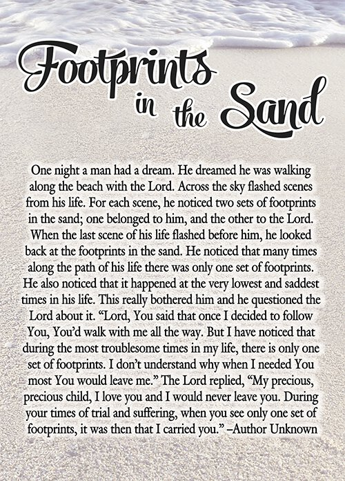 picture about Footprints in the Sand Printable referred to as Footprints in just the Sand Magazine - 12/pk