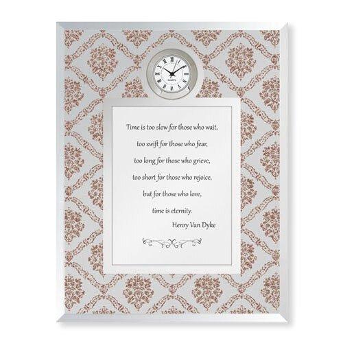 Time Too Short Henry Van Dyke Framed Table Clock Every