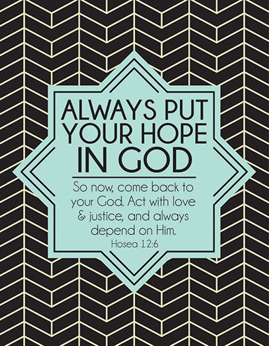 Square Magnet - Put Your Hope in God - Clearance  Put Your Hope In God