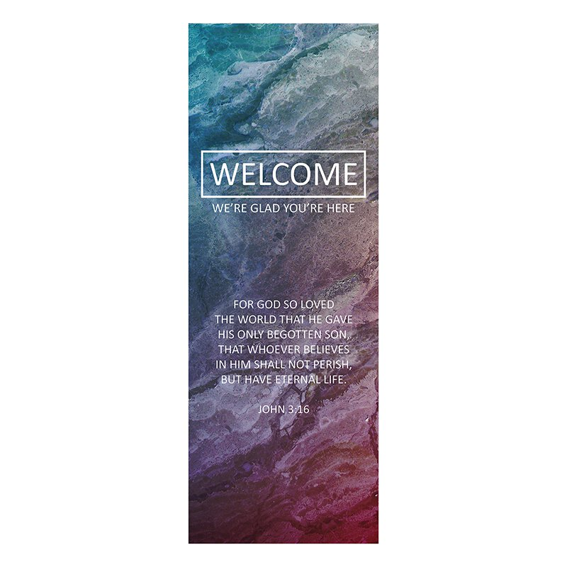 We're Glad You're Here X-Stand Banner