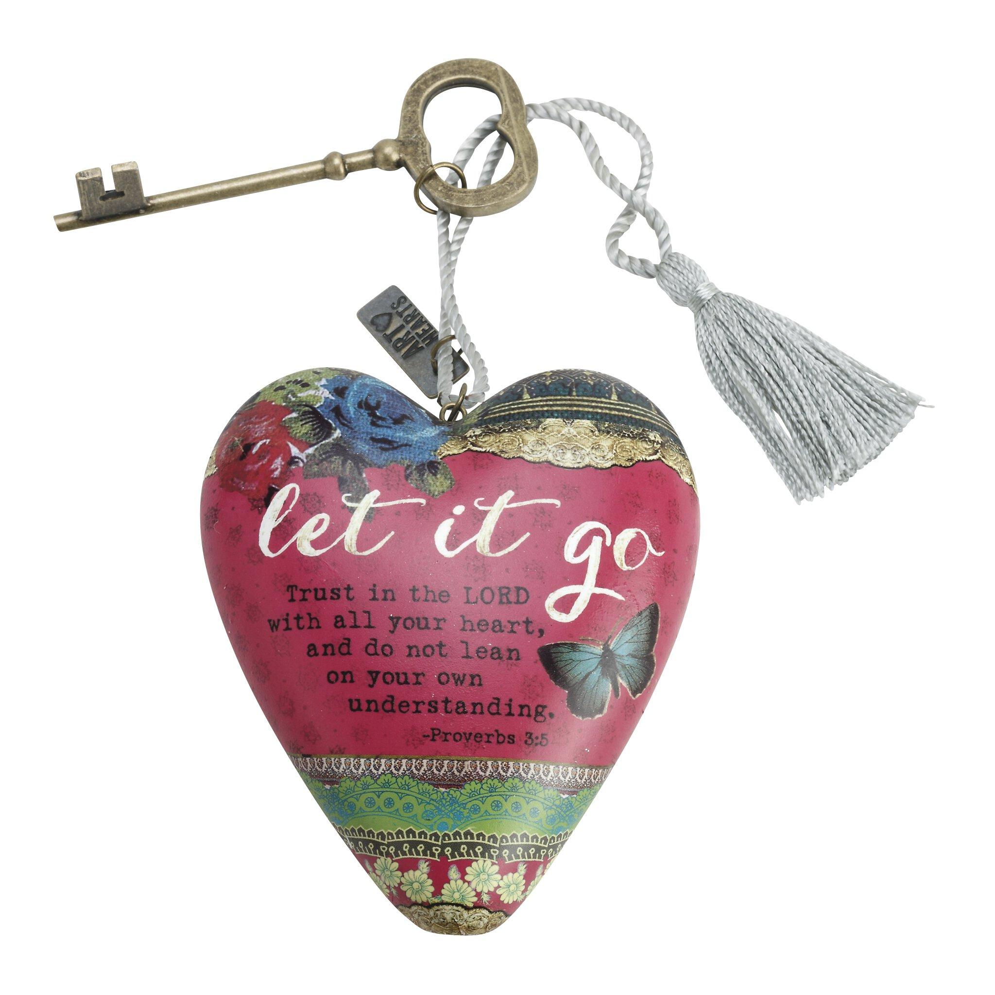 Baptism Heart Ornament: Art Heart Ornament