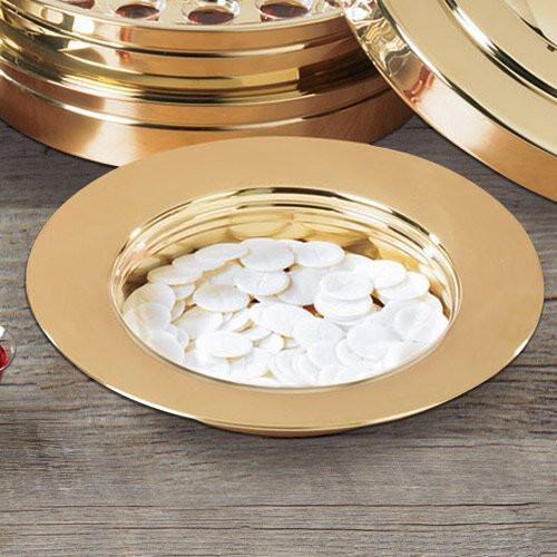 Brass Finish Stacking Bread Plate