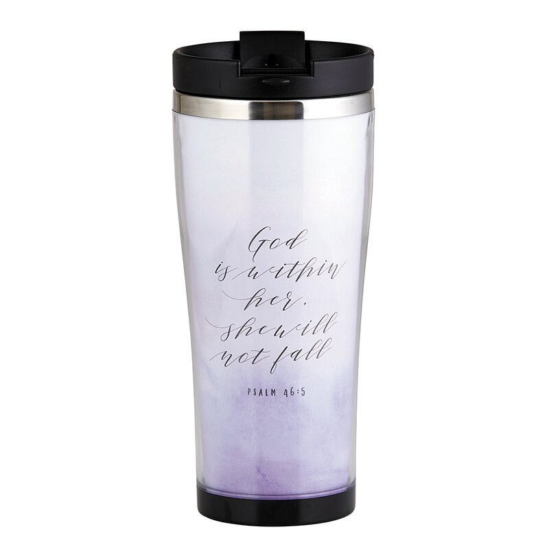 God is Within Her Travel Tumbler - 2/pk