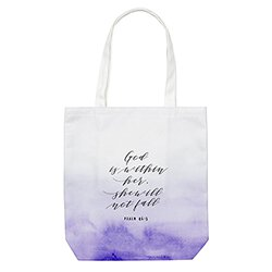 God is Within Her Tote Bag with Inside Pocket - 8/pk (1 to 2 packages)