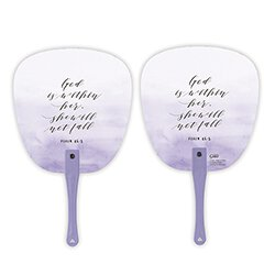 God is Within Her Hand Fan - 24/pk