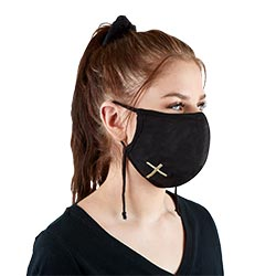 Embroidered Cross Face Mask