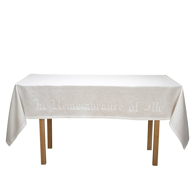 100% Linen In Remembrance of Me Altar Frontal