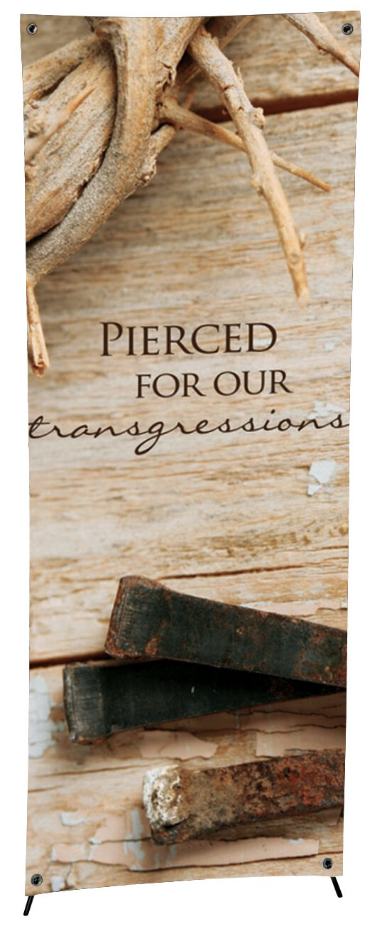 Lenten Series X-Stand Banner - Pierced for Our Sins