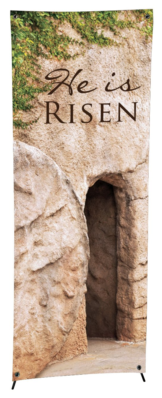 Lenten Series X-Stand Banner - He is Risen