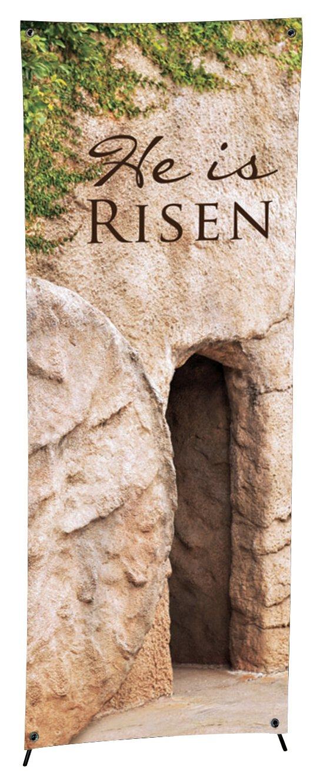 Lenten Series X-Stand Banner - He is Risen