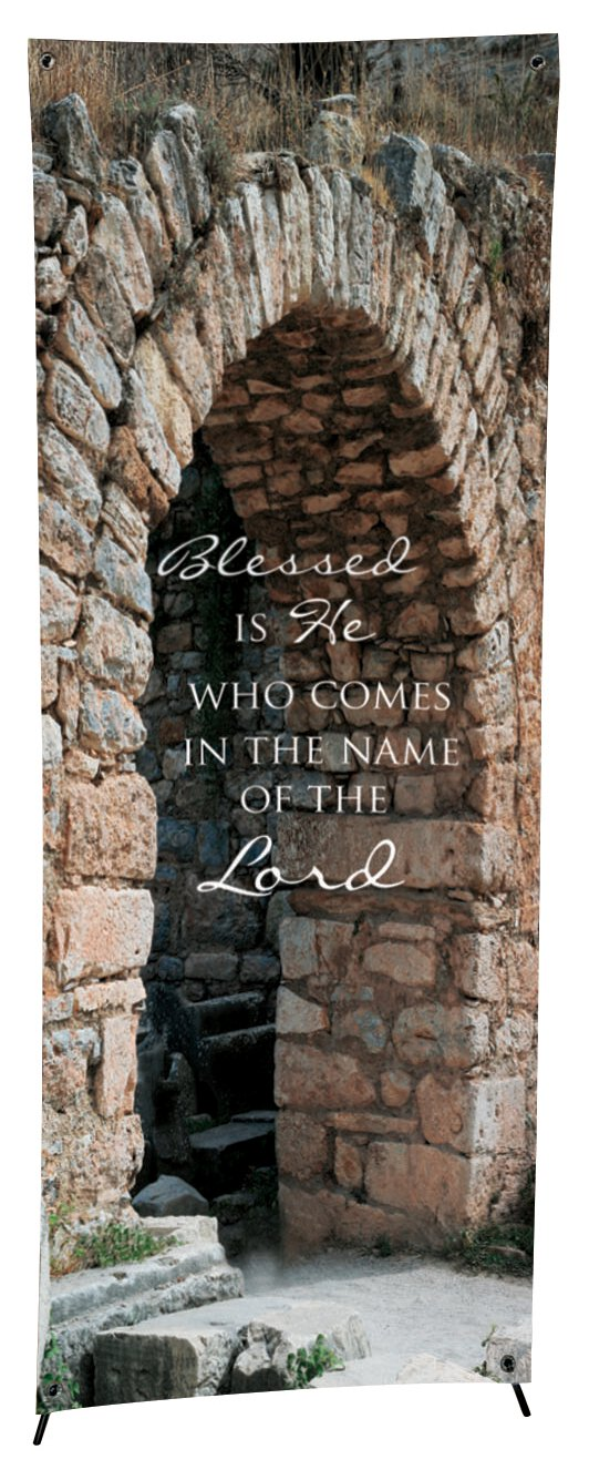 Lenten Series X-Stand Banner - Blessed is He