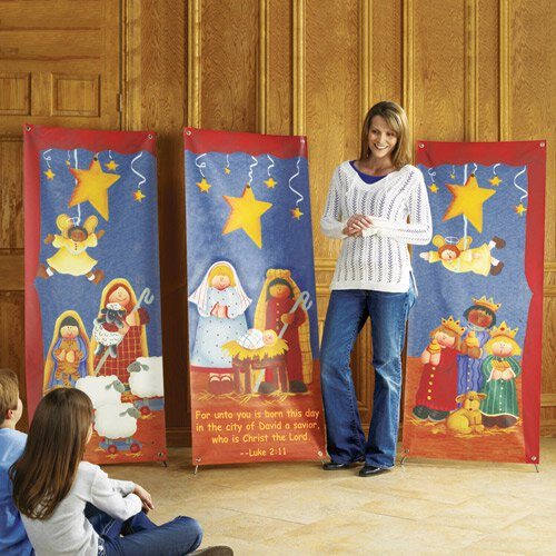 Nativity Pageant Series X-Stand Banners - Set of 3