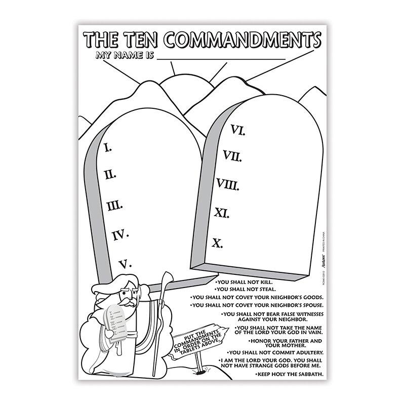 Color Your Own Poster - The Ten Commandments - 50/pk