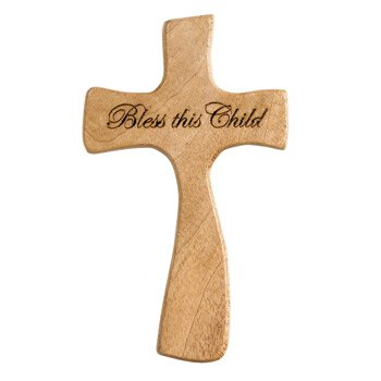 Bless this Child Hand-Held Cross - 4/pk