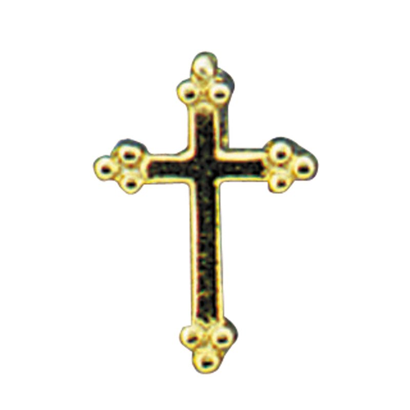 Budded Cross Lapel Pin - 25/pk
