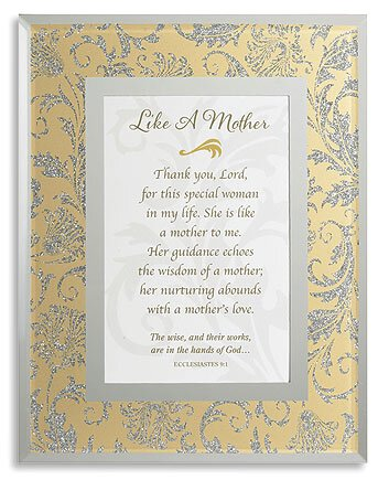 Like A Mother Framed Tabletop Christian Verse