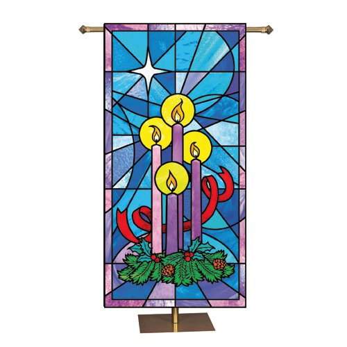Stained Glass Series Banner - Celebrate Advent