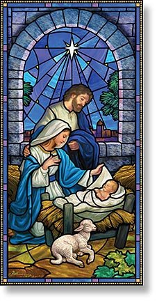 Stained Glass Series Banner - Nativity