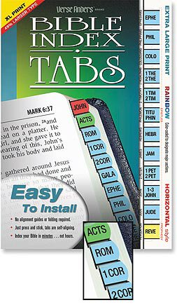 Large Print Verse Finder™ Tabs - Rainbow Protestant Version
