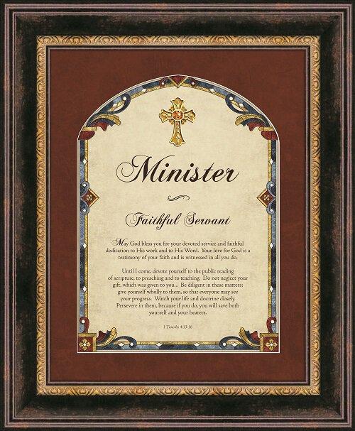 Minister Framed Wall Art - I Timothy 4:13-16