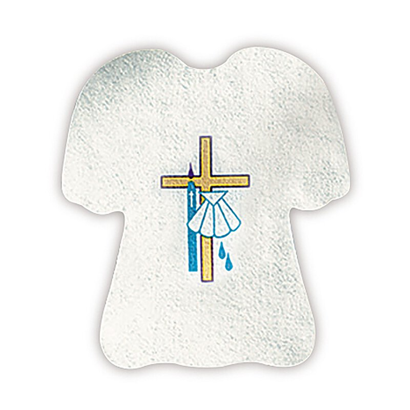 Baptismal Garment with Cross and Shell - 24/pk