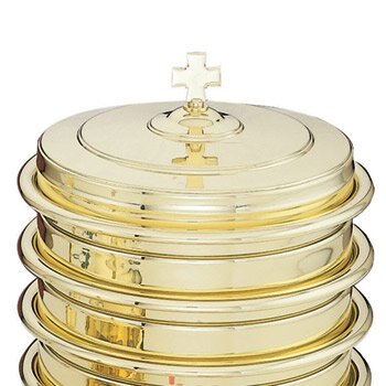 Highly Polished Solid Brass Communion Tray Cover