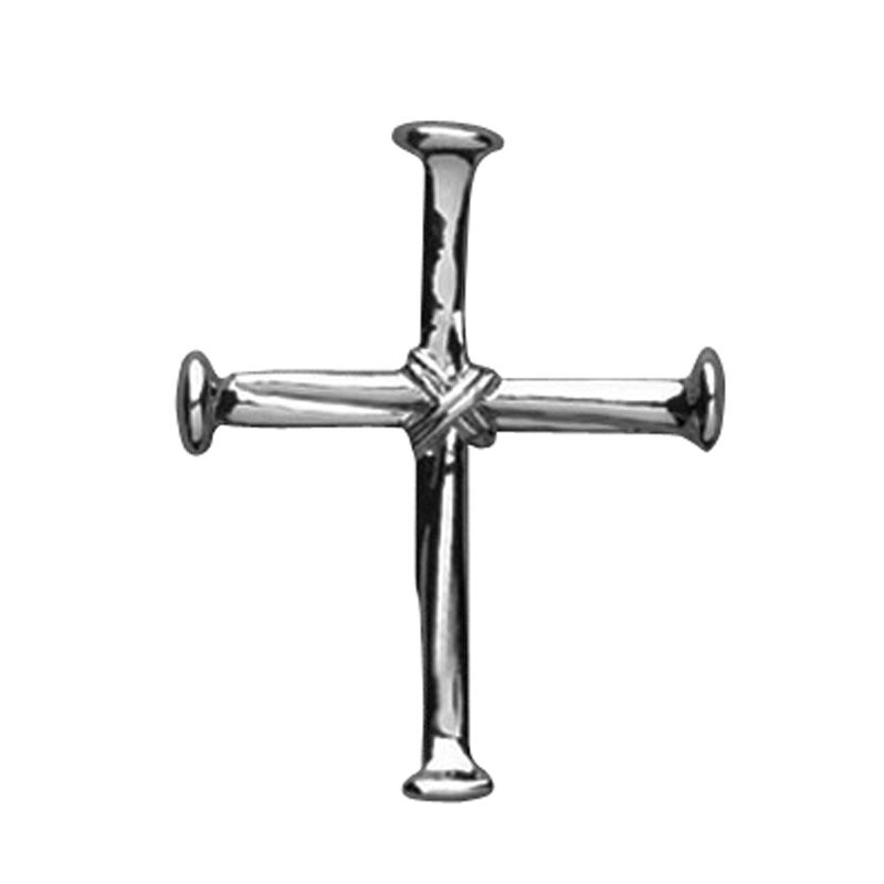 Nails Cross Lapel Pin - 25/pk