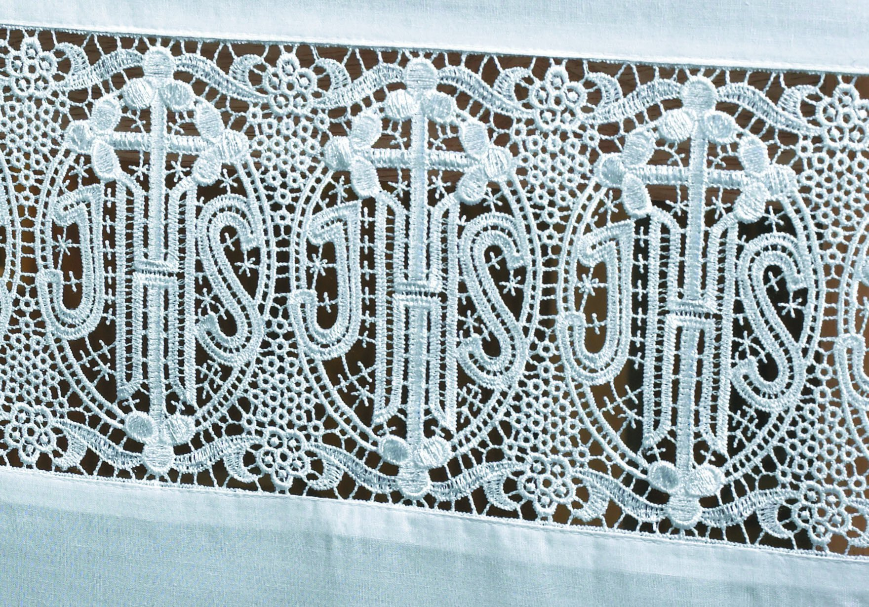 Made To Order Latin Cross And Lace Altar Cloth Altar Linens