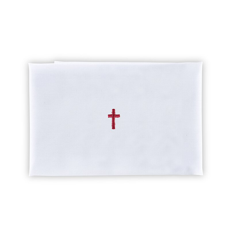 100% Linen Red Cross Purificator - 12/pk