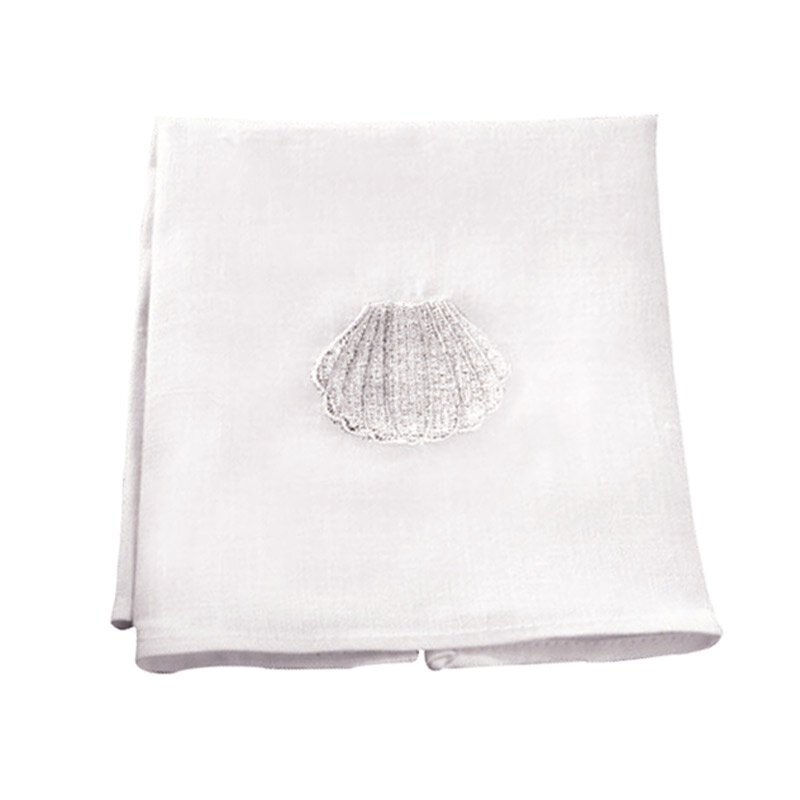 Baptismal Napkin with Shell - 4/pk