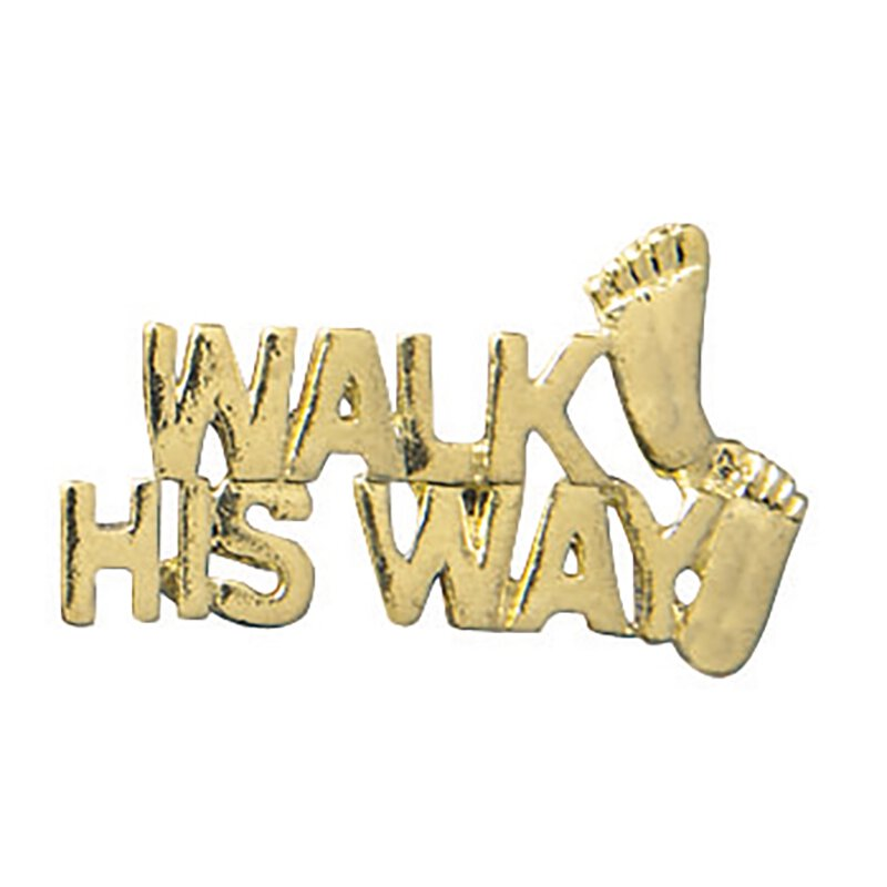 Walk His Way Lapel Pin - 25/pk